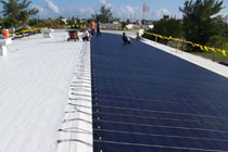 solar panels on the roof of the Florida Keys Eco-Discovery Center