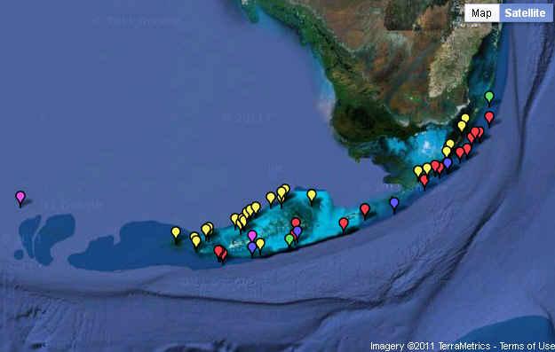 Keys Florida Map.Florida Keys National Marine Sanctuary Map Library
