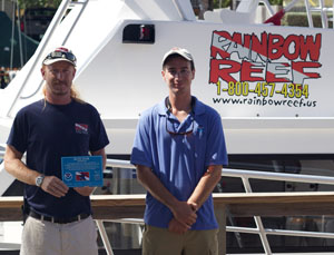 Photo of Rainbow Reef staff with Blue Star Certificate.
