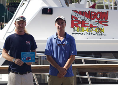 Photo of Rainbow Reef Dive Center earns sanctuary Blue Star certification.