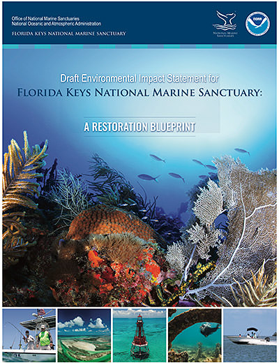 cover of the DRAFT Environmental Impact Statement for florida keys national marine sanctuary