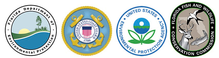 florida dept. of environmental, u.s. coast guard, epa, florida fish and wildlife conservation commission